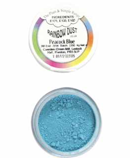 Rainbow Dust Plain and Simple Dust Colouring - Peacock Blue