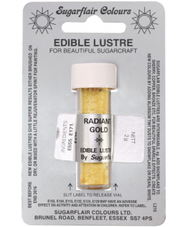 Sugarflair Edible Lustre Colour - Radiant Gold