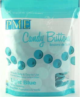 PME Candy Buttons Vanilla Light Blue 340g