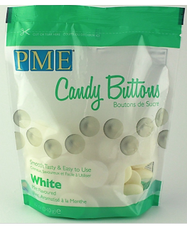 PME Candy Buttons Mint Choc White 340g