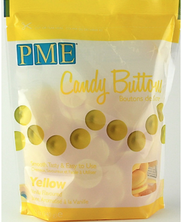 PME Candy Buttons Vanilla Yellow 340g
