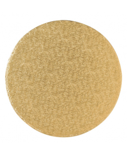 9'' (228mm) Cake Board Round Gold Fern - single