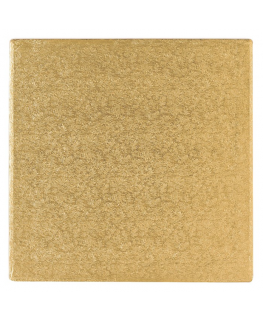 8'' (203mm) Cake Board Square Gold Fern - single