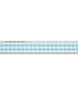 Blue Gingham Ribbon - 25mm x 25m