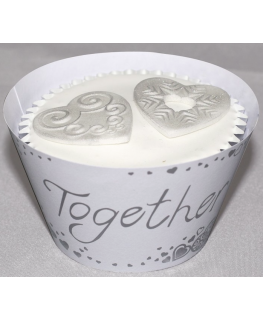 Together Forever Cupcake Wraps