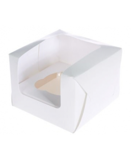 Ivory Single Muffin Boxes Retail Packed - 6 Piece