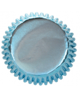 Ice Blue Coloured Paper Lined Foil Baking Cases