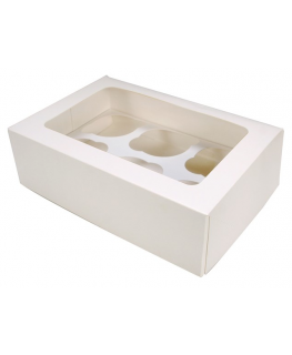 White 6 Cupcake/Muffin Box