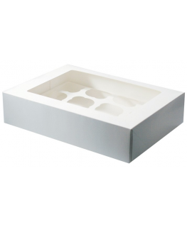 White 12 Cupcake/Muffin Box