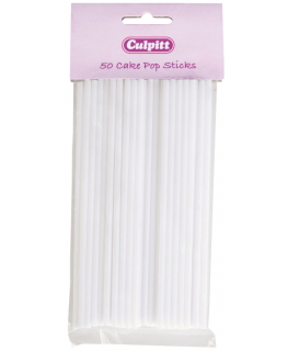 White Round Cake Pop Stick - Retail Packed
