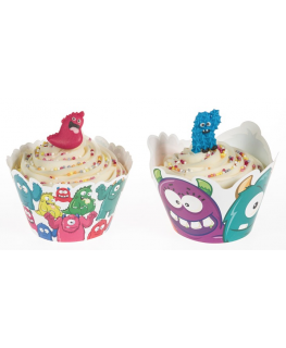 MonstersCupcake Wraps