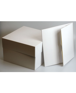 "10"" Sq Single White Cake Box"