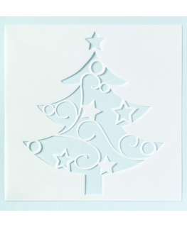 Christmas Tree Stencil for Full Cake