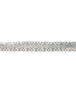 Silver Coloured Embossed Cake Band - 13mm x 50m