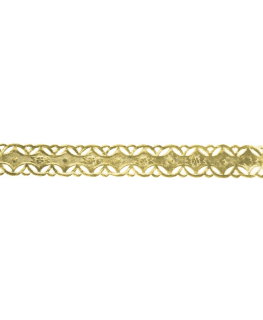 Gold Coloured Embossed Cake Band - 13mm x 50m