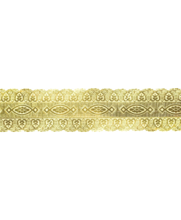 Gold Coloured Embossed Cake Band - 25mm x 50m