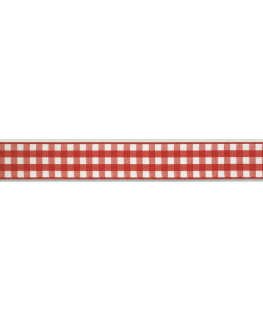 Red Gingham Ribbon - 25mm x 25m