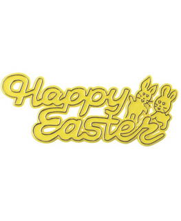 Happy Easter Plastic Motto