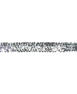 Silver Coloured Sequin Ribbon