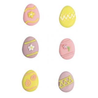 Assorted Easter Egg Sugar Pipings