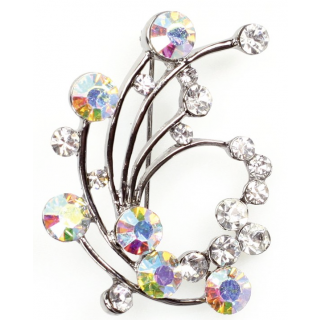 Swirl Diamante Brooch