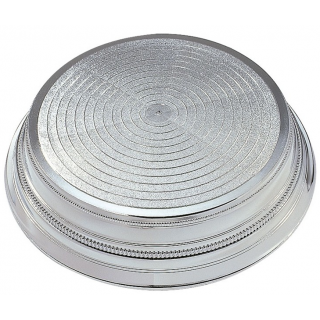 Round Plastic Cake Stand - Silver