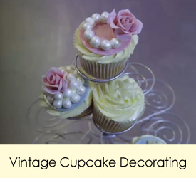 Vintage Cupcake Decorating