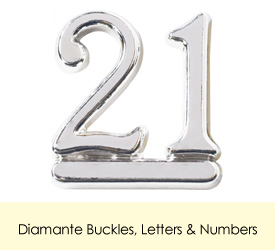 Diamante Buckles, Letters & Numbers